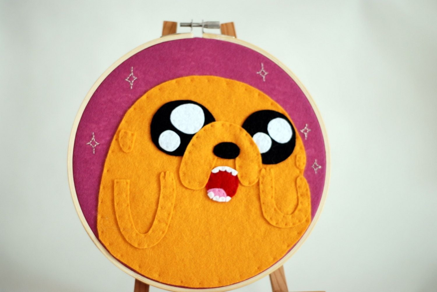 Jake from Adventure Time Embroidery Hoop.. $25,00, via Etsy.