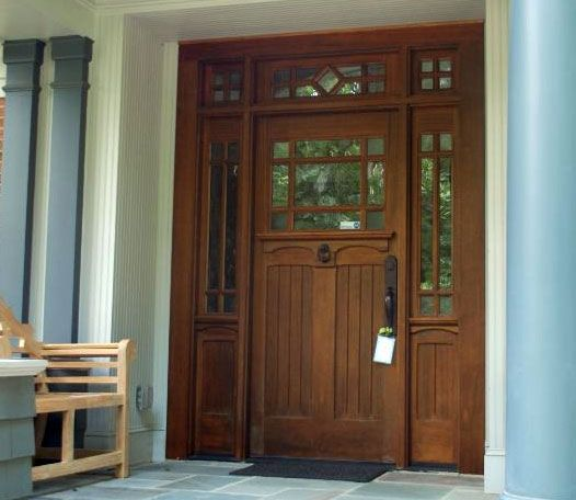 Phirst And Lassing Unique Third Lite Exterior Wood And Glass Doors Made In Usa Contemporary Front Doors Wooden Doors Interior Craftsman Style Front Doors