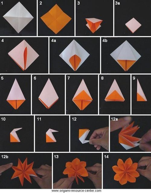 Origami    Traditional Buttonhole Flower Folding Instructions