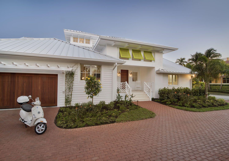 Coastal Cottage White Mhk Architecture And Planning Naples Florida South Florida Architecture Florida Homes Exterior Coastal Cottage Florida Home
