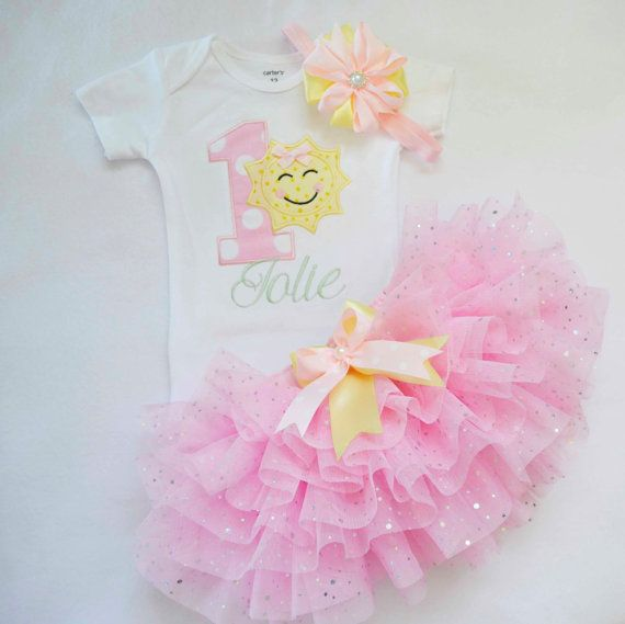 Baby girl 1st birthday outfit,You are my sunshine,Pastel colors,Personalized Cake smash Outfit,sparkly 1st birthday tutu,customized colors #birthdayoutfit