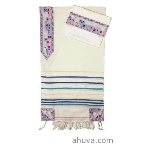 Bright and Colorful Men's Silk Tallit