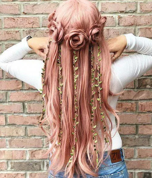 Beautiful Fantasy Hairstyles That You Only Dream About Inspired Beauty Hair Styles Long Hair Styles Natural Hair Styles