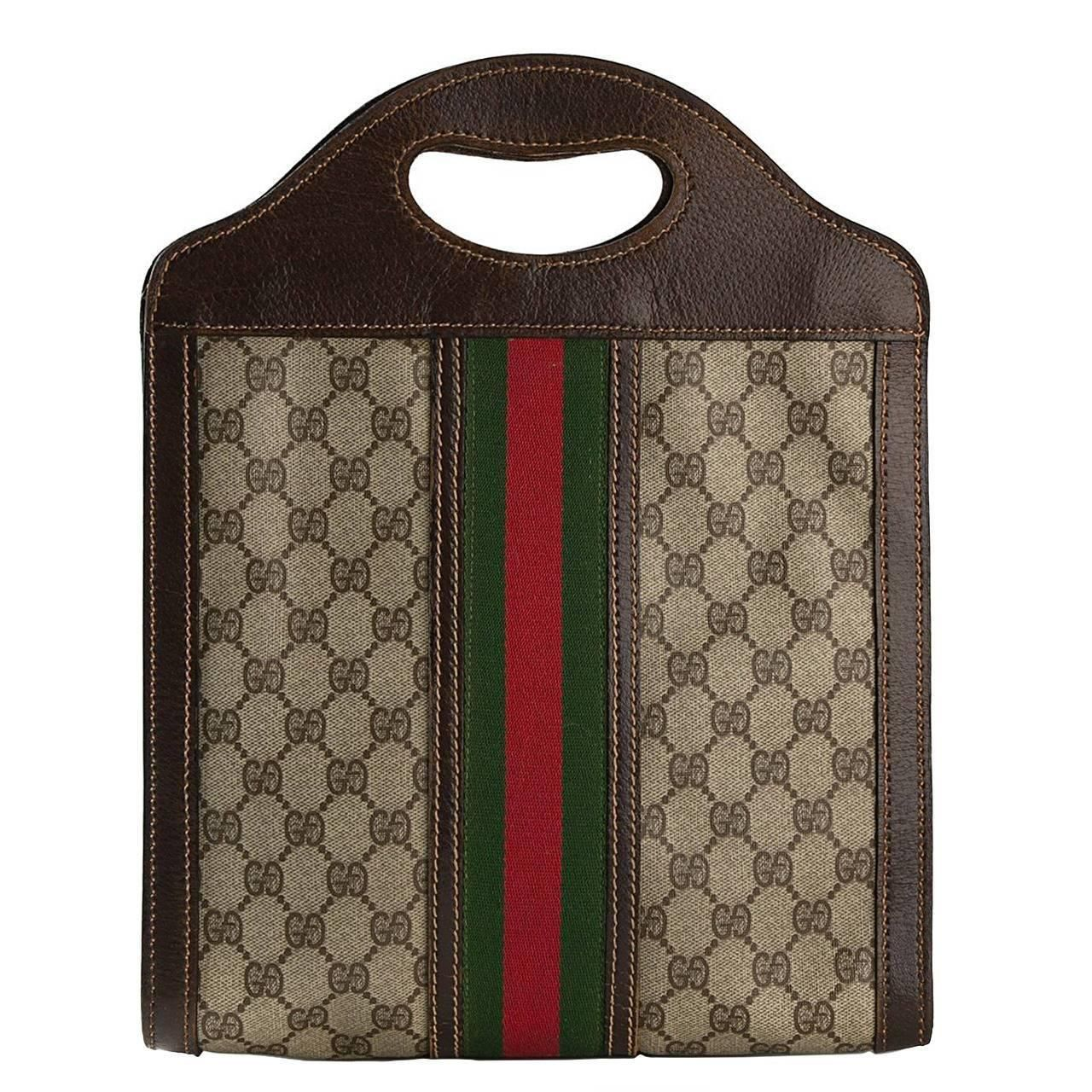 f1484322f236 1970s Gucci Tote Bag | From a collection of rare vintage tote bags at https:
