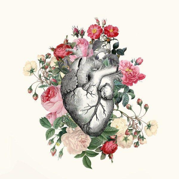 Rideau de douche coeur floral Rose pour son cœur | Etsy