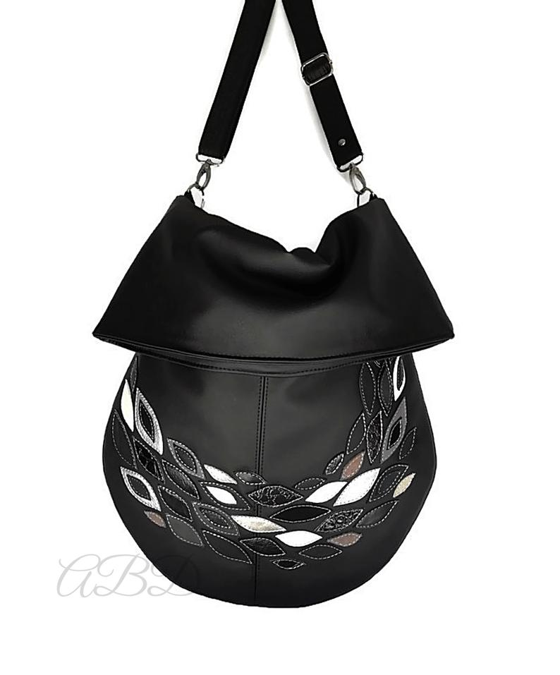 Black Hobo Bag Black Handbag Black Vegan Bag Large Shoulder Bag Slouchy Hobo Purse Slouchy Hobo Bag Hobo Purse Bag Handbag Women Bag Woman Black Vegan Bag Black Handbags Large Shoulder