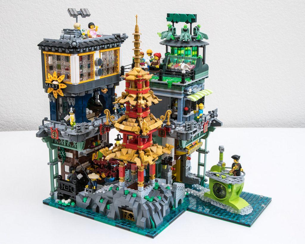 Ninjago City Pagoda Park By Galaktek Pimped From Flickr Lego Ninjago City Lego Architecture Lego Projects