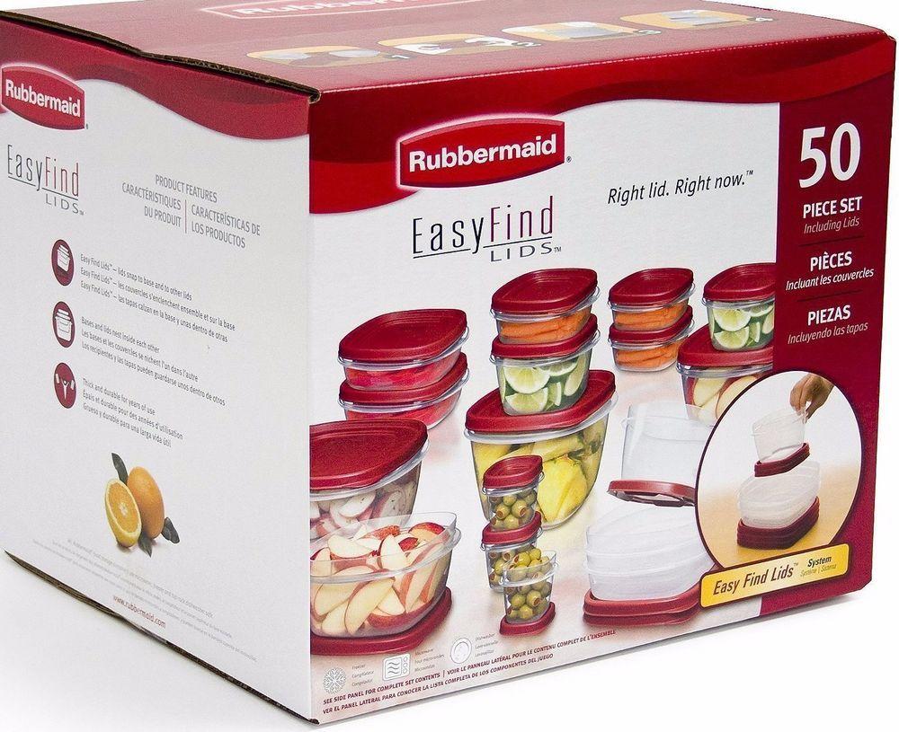 50 rubbermaid kitchen food storage set bpa dishwasher