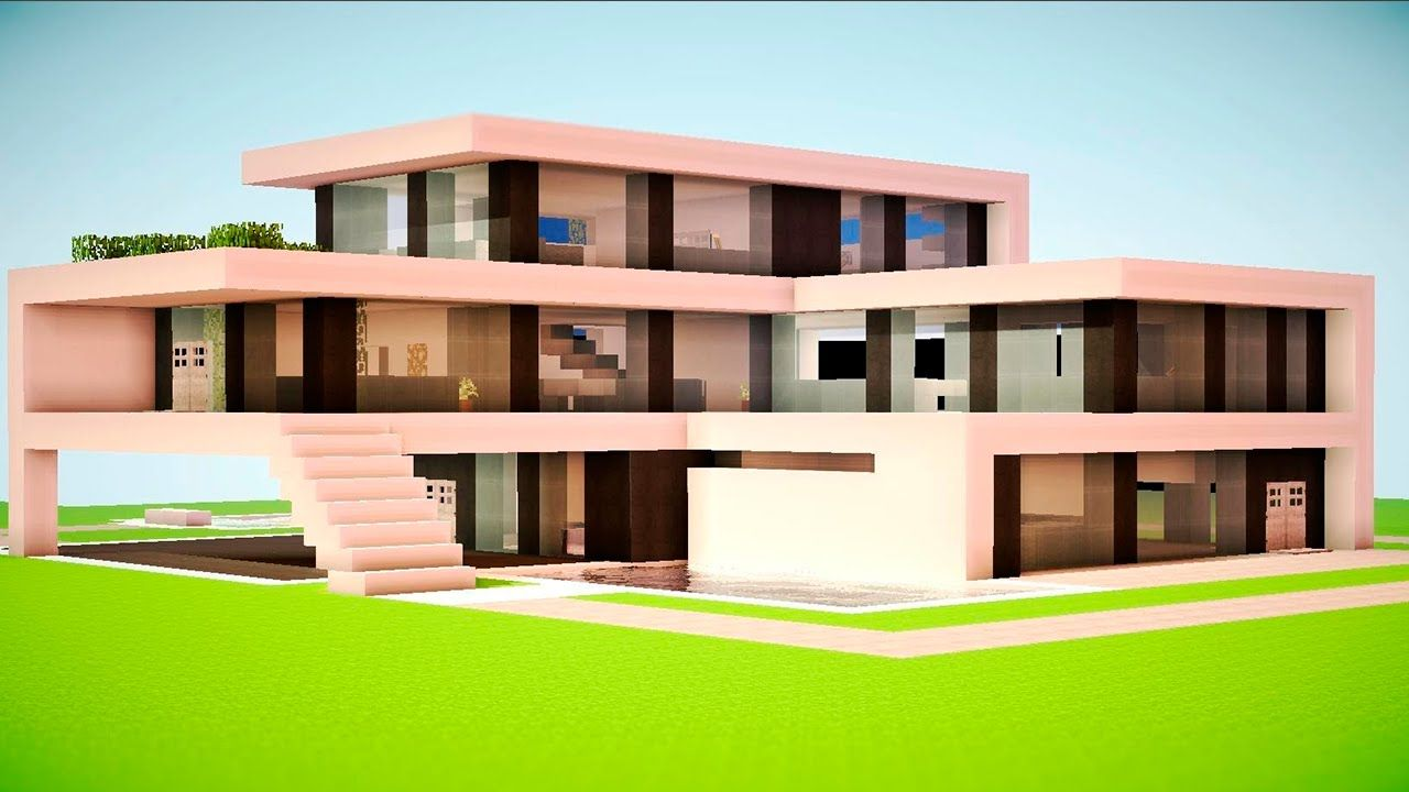 Resultado de imagem para casas modernas minecraft casas for Casa moderna minecraft mirote y blancana