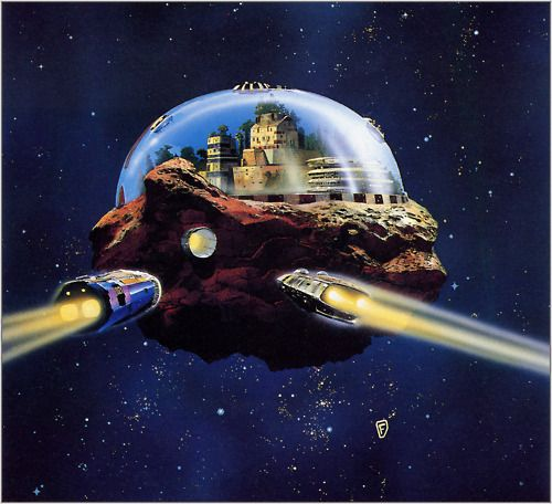 70s Sci Fi Art Chris Foss: Space Galactic [Inspiration]