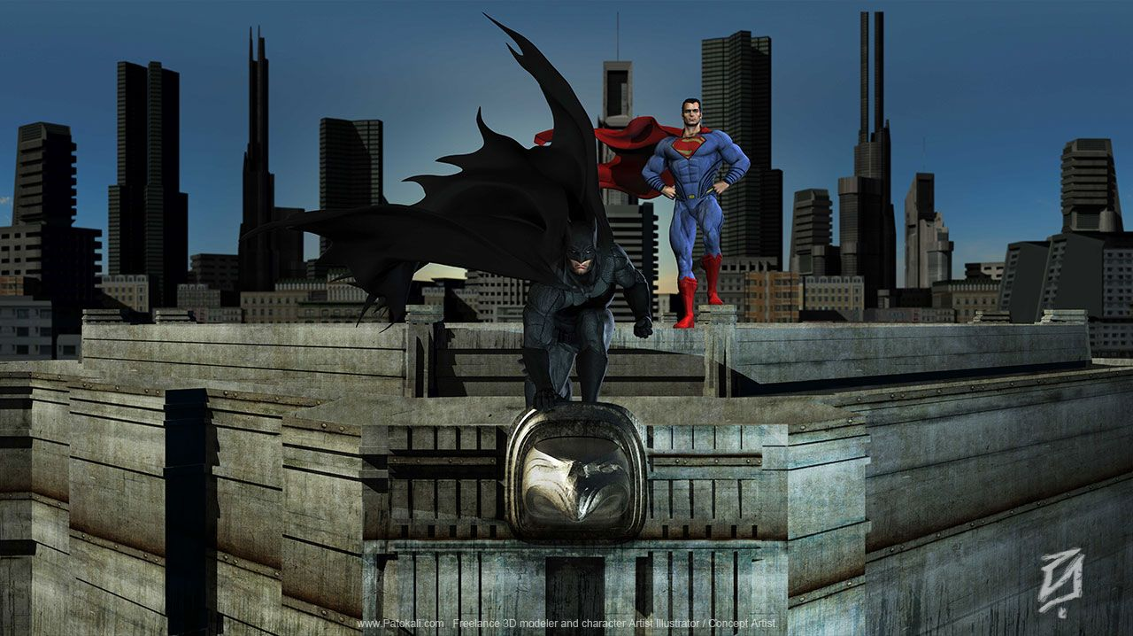 Batman v Superman by patokali