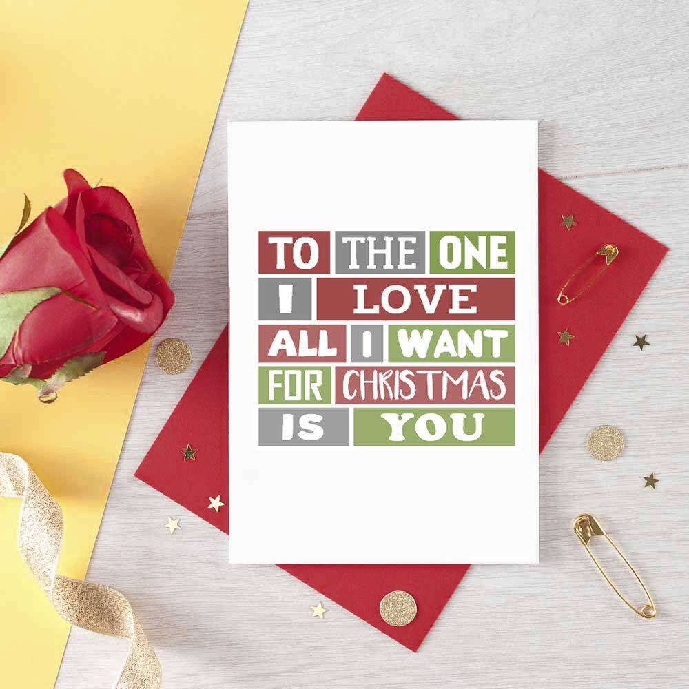 Boyfriend Christmas Card For Girlfriend | Husband Romantic Christmas ...