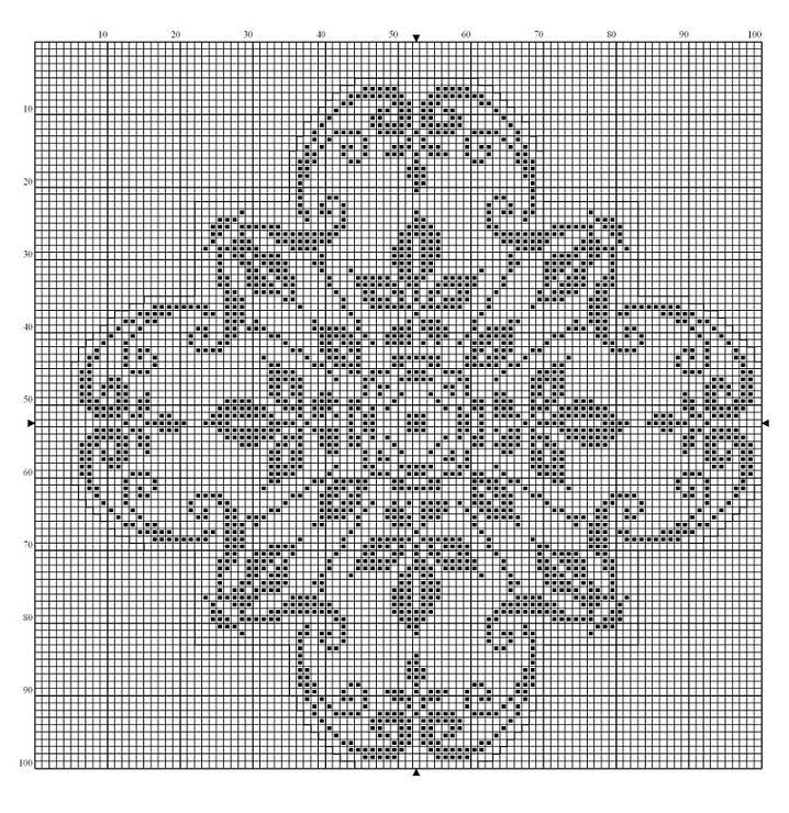 Монохромные узоры для вышивки крестом