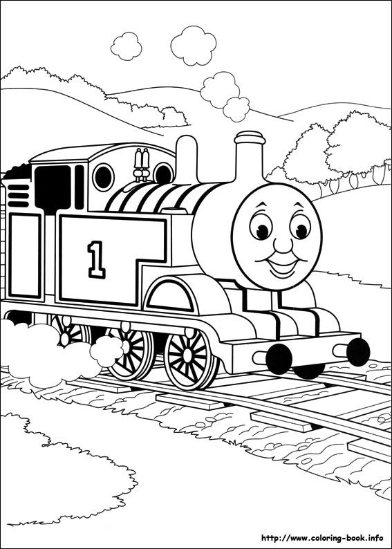 Thomas and Friends coloring picture | Activities for kids ...