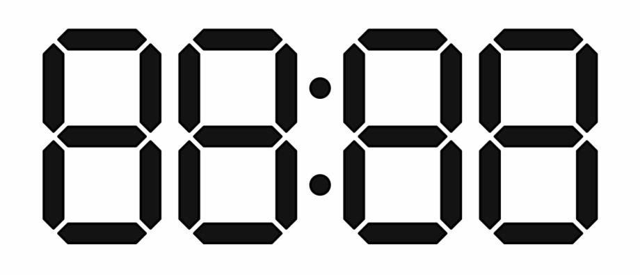 Digital Numbers Png Diy Prints Digital Root Clock Icon