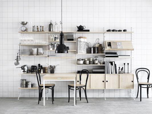 string® folding table - design anna von schewen & björn dahlström crea la libreria che vuoi tu ripiani-arredo di COS