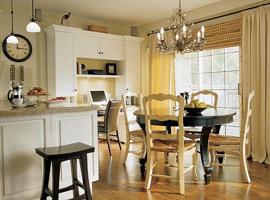 Suzie: Candice Olson - Divine Design - Love the bronze chandelier in this space.  Cottage love! ...