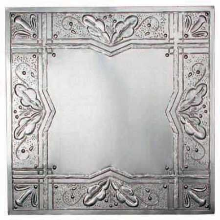 Package Of 6 12 X 12 Vintage Look Reproduction Galvanized Metal Embossed Tin Leaves An Decorative Ceiling Tile Tin Ceiling Tiles Embossed Tin Ceiling Tiles