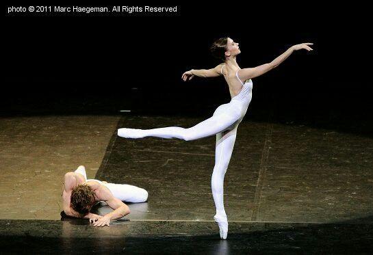 """Yekaterina Shalkina and Julien Favreau in Marius Bejart """"Light"""" # """"Les Etoiles pour le Japon, Paris, Palais des Congres # May 31, 2011 # photographer Marc Haegeman"""