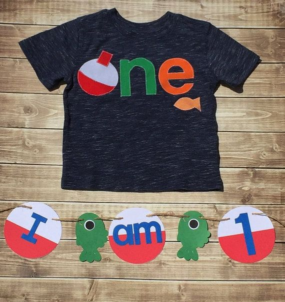 Fishing Birthday One First Boy Size 12 Months Shirt Photo Prop Ready To Shipby Alilhipshopetsy