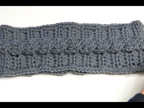 HOW TO CROCHET A HEADBAND USING CABLE CROCHET STITCH - YouTube ...