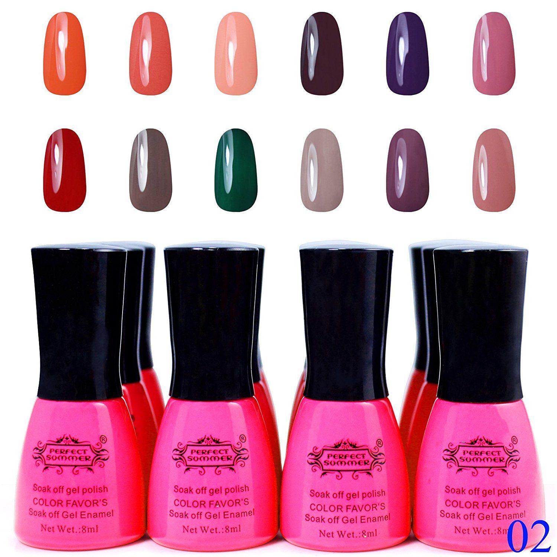 Perfect Summer Gel Nail Art Polish UV LED Light Manicure