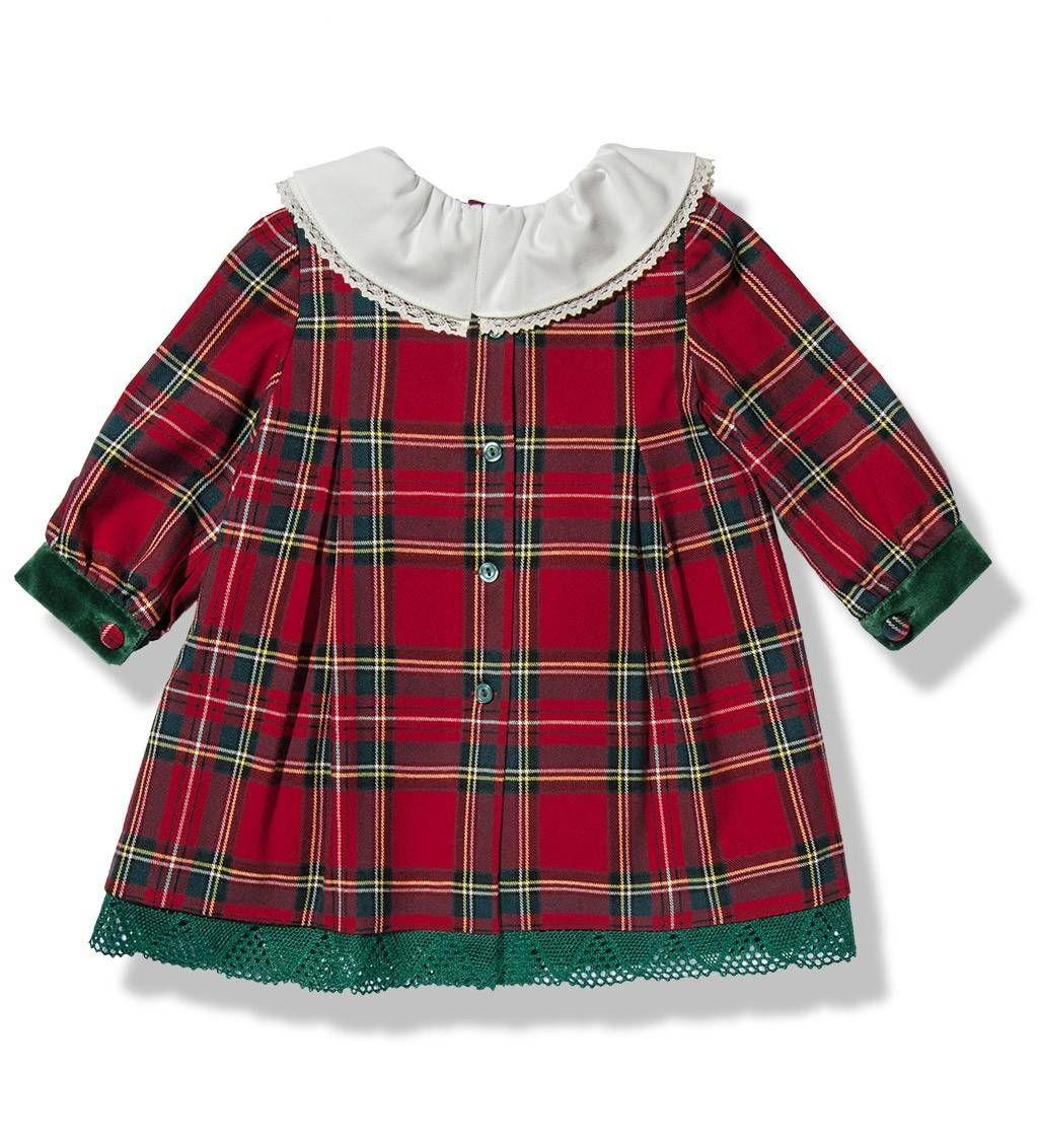 e86985ae5 Vestido escocés verde y azul para niña de Fina Ejerique | Otoño Invierno |  Vestidos, Vestidos escoceses, Vestidos para niñas