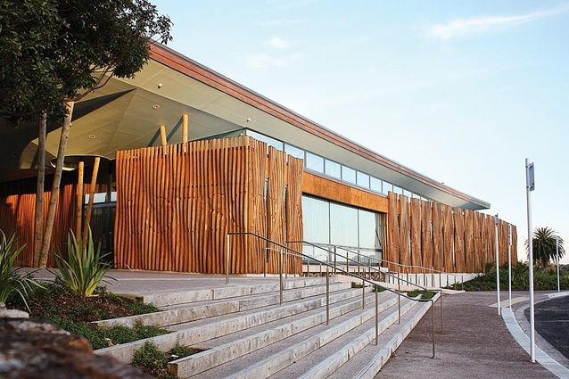 A 'lyrical' timber library building has taken out the top prize at the NZ Wood Resene Timber Design Awards 2015.
