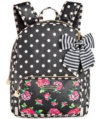 11fc353209 Betsey Johnson Large Bow Backpack
