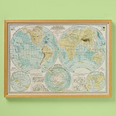 Kids world hemispheres map wall art i want wall maps pinterest kids world hemispheres map wall art gumiabroncs Choice Image