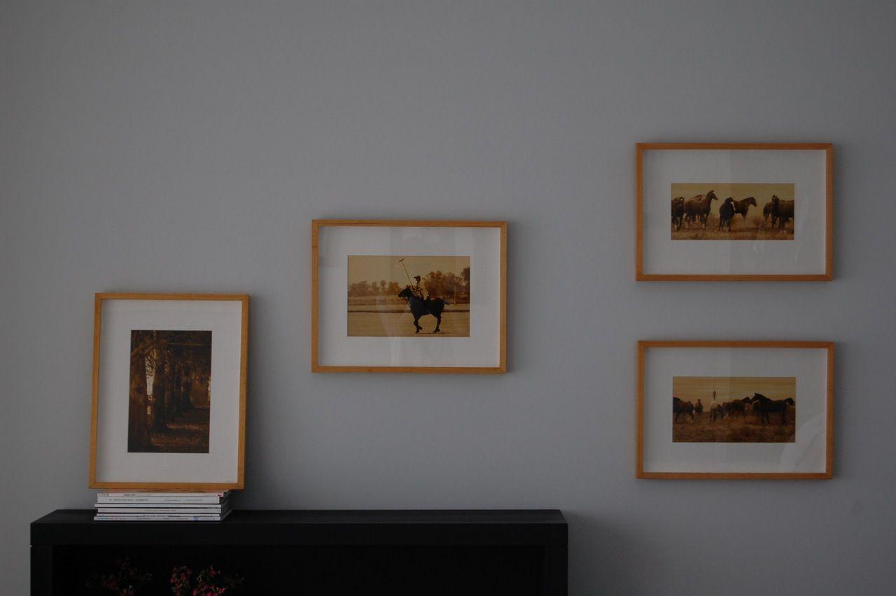 Marcos caja en madera natural con fotografías sepia. | MARCOS ...