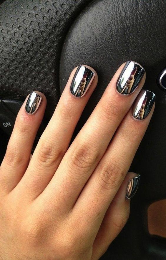 Cómo hacer el efecto espejo en las uñas paso por paso | Uñas ...