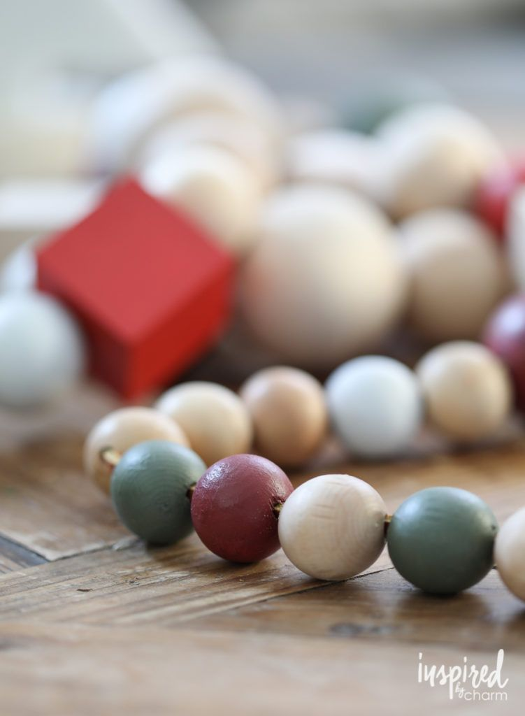 DIY Oversized Wood Bead Garland   Inspired by Charm