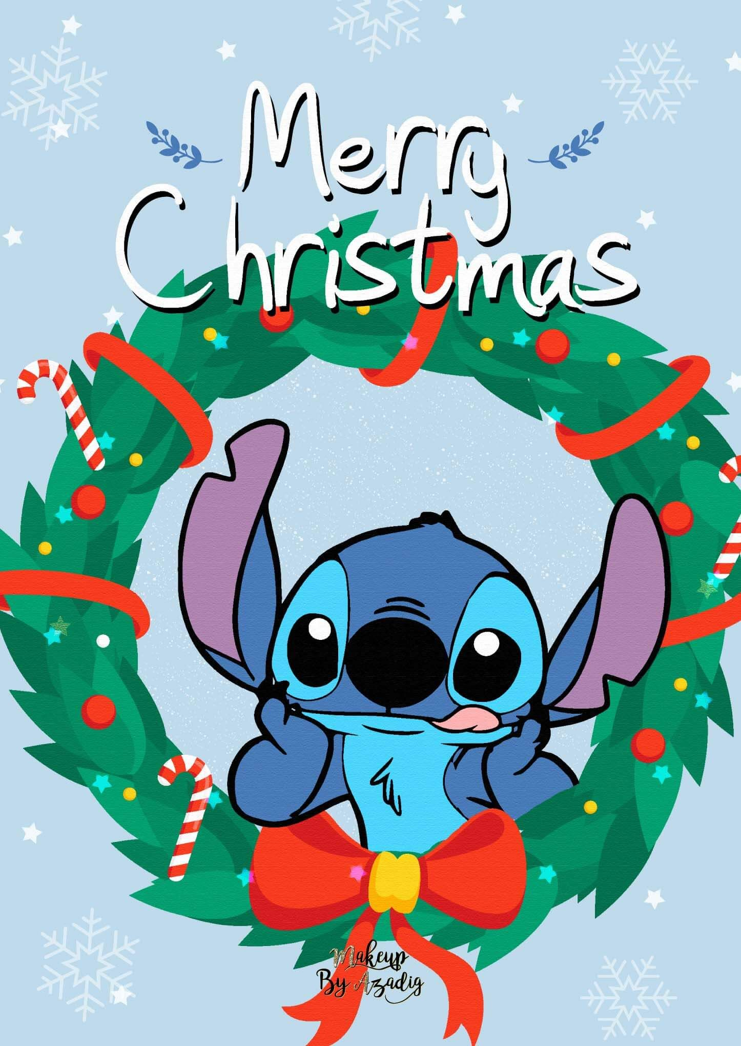 9 Fond D écran Disney Stitch Christmas Wallpaper Fond D écran