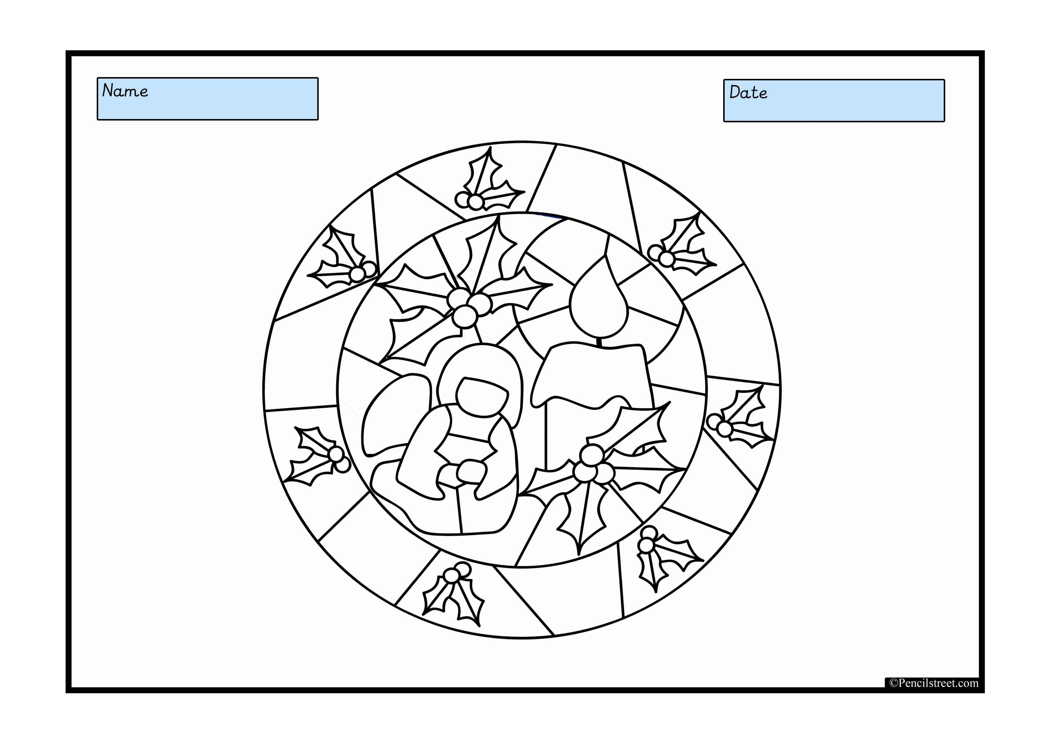 Colour In The Stained Glass Window Use As A Worksheet Or