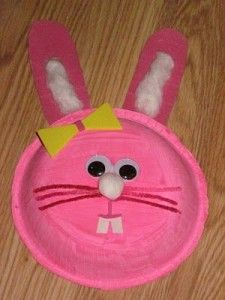 paper plate easter bunny craft idea for kids 4 actividad