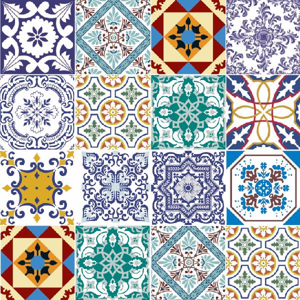 Colou Adesivos Decorativos - Papel de parede - Azulejos portugueses 17 - ppaz17