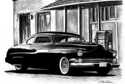 Classic Car Pencil Drawing Classic Car Truck Art Pinterest