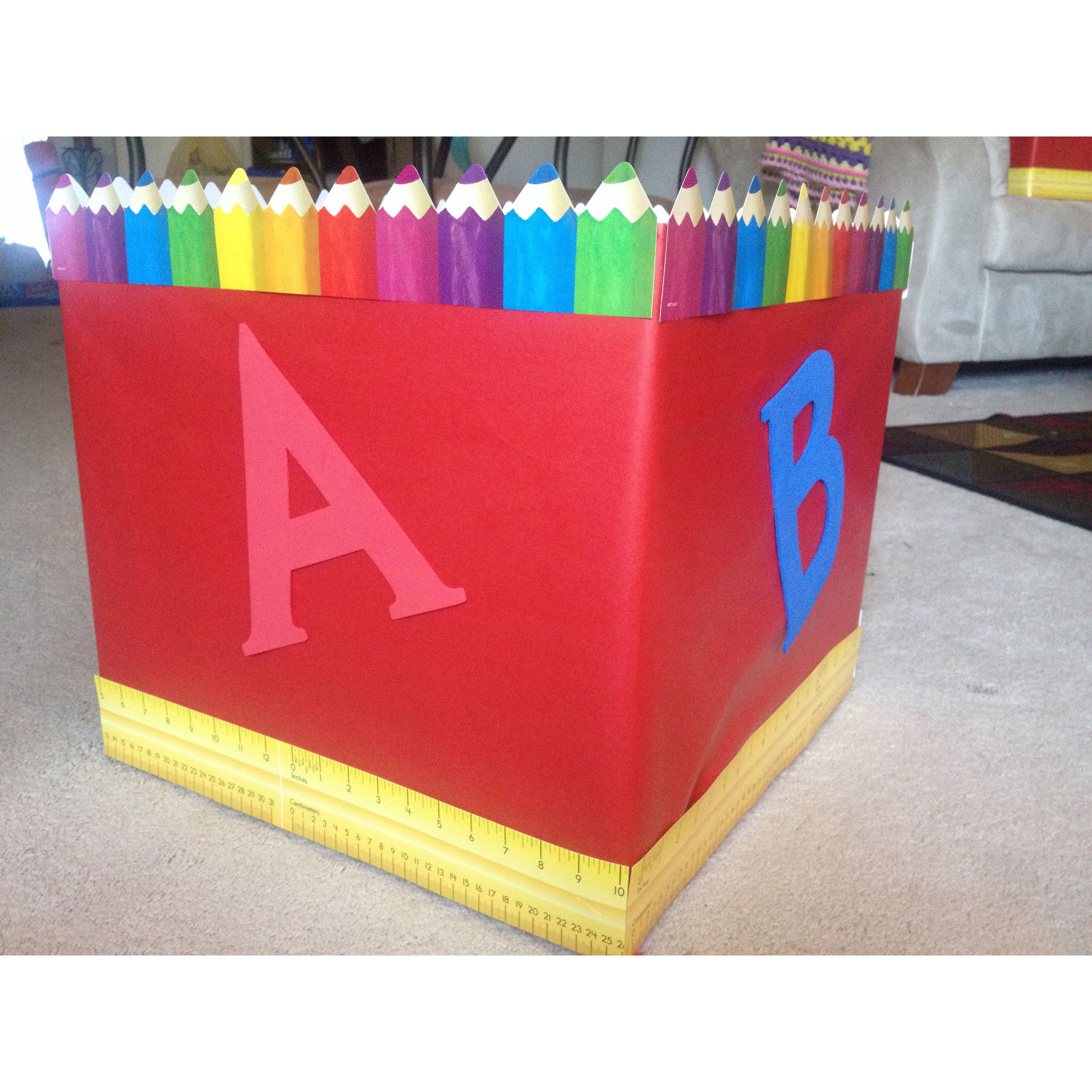 back to school drive donation boxes. very easy to make and