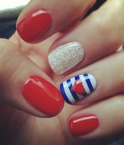Very cute 4th of July nails I think yes | cute nail ideas ...