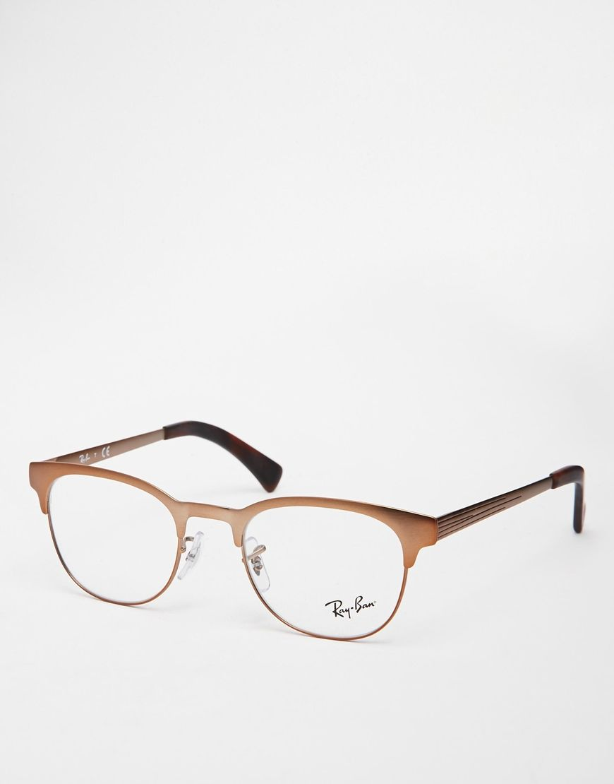 Ray Ban Clubmaster Glasses Gold