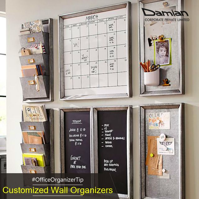 A Wall Organizer Will Keep Your Stationery And Files In Place To Help You Manage The Desk Better