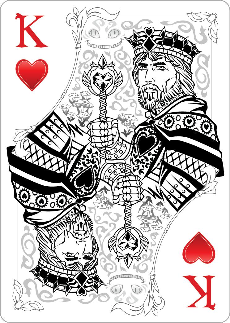 King of hearts alice in wonderland tattoo