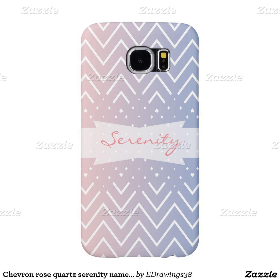 #Chevron #rosequartz #serenity #name #personalized #samsung galaxy s6 #cases