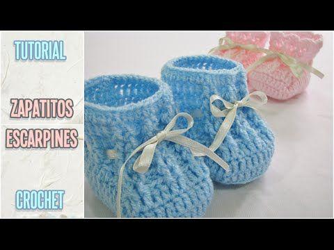 c8c0913d3 Cómo tejer zapatitos escarpines de bebé a crochet, paso a paso |  Manualidades