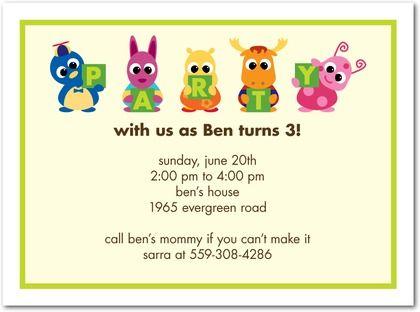 Birthday Party Invitations The Backyardigans Party Pals