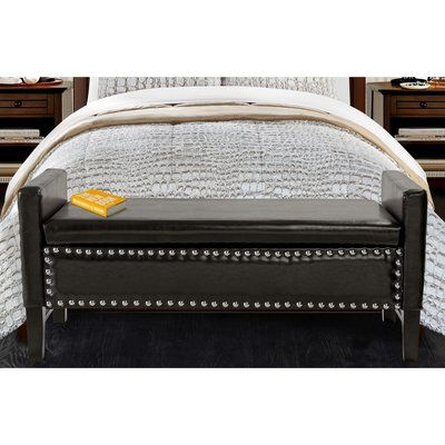 Iconic Home Lance Upholstered Storage Bedroom Bench