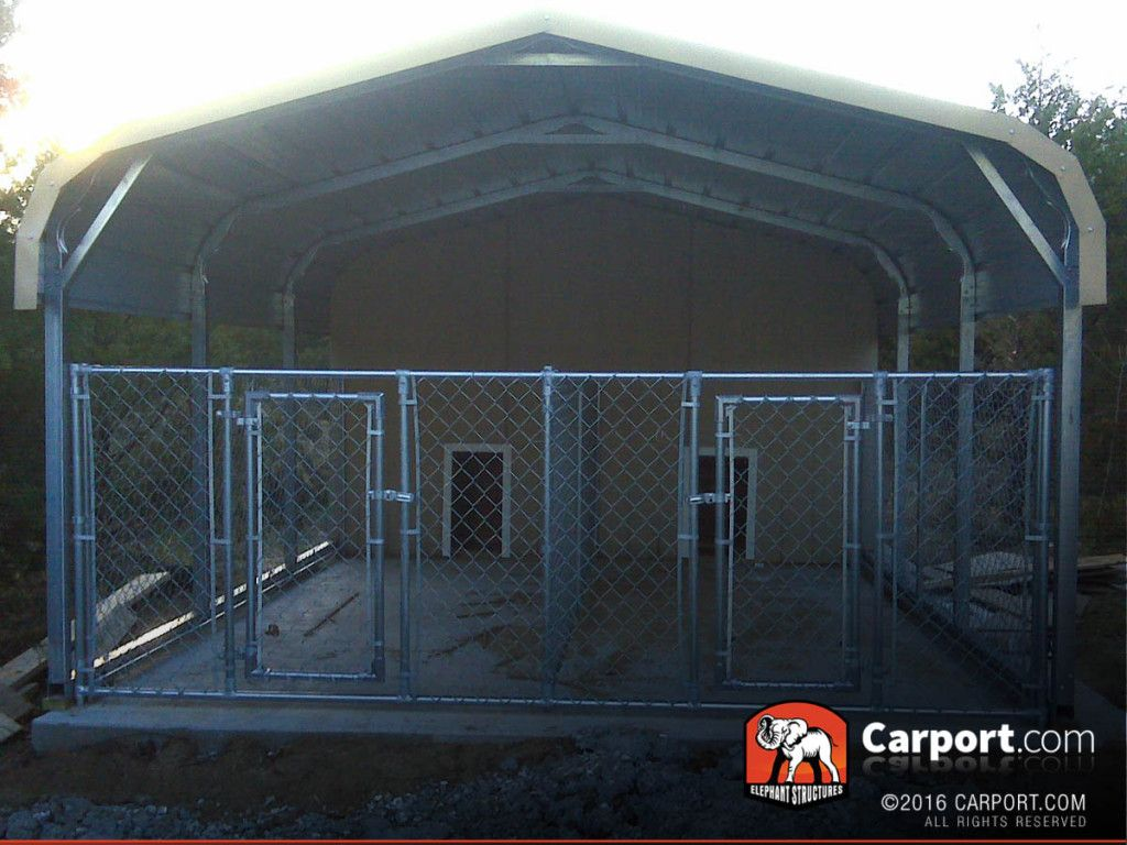 Double Wide Carport Shelter 20' wide x 21' long x 5' high