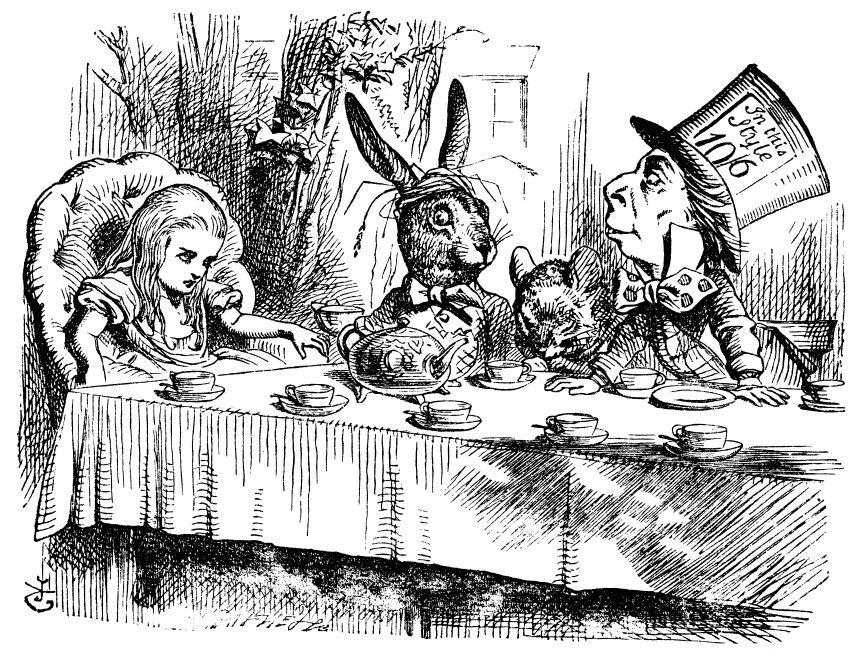 Alice In Wonderland It S Always 6 O Clock It S Always Tea