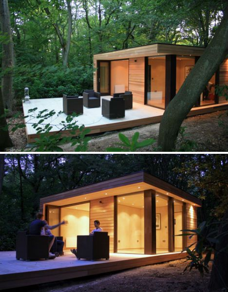14 outside work pods to detach yourself from the office for Outdoor office building